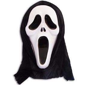 Máscara Pânico C/ Capuz Cosplay Fantasia Halloween Carnaval