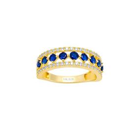 4ba3dc086f64 Churumbela Oro Amarillo Con Piedras Azules Y Zi-1tmsr00241-b