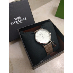 Reloj Marca Coach Original Cafe Monogram Nuevo Reloj Pulsera