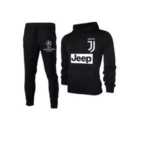 Conjunto Calça + Blusa Moleton Juventus Futebol Champions