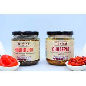 Duo De Salsas De Chiltepin Y Habanero!, Artesanal, Gourmet!