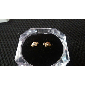 Broqueles De Tortuga Con Circonia, Oro 10k Garantizado
