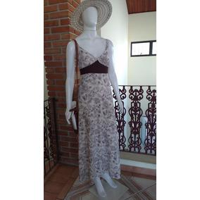 Vestido Longo Frandas M 55x43x145cm Moda Evangélica