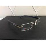 Armação Oculos Grau Tag Heuer Tag349 Th0349 Marrom Silicone no ... 366e735abb