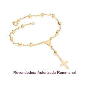 Pulseira Terço Folheada A Ouro Rommanel Nossa Senhora 550308
