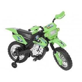 Moto Elétrica Infantil Cross Homeplay Rally Trilha Verde
