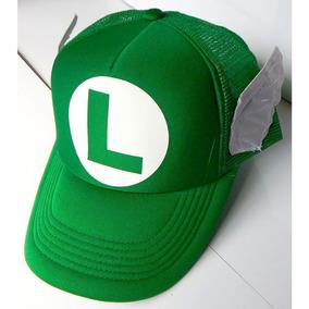 3fc31598f58f2 Super Mario Bros Gorra Trucker Luigi Alitas Broche Ajustable