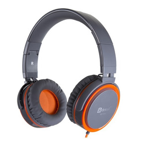Fone De Ouvido Headset Dobrável Dotcell Dc-f265 Cinza Laranj