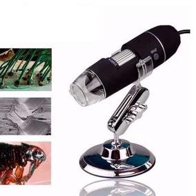 Kit 6 Lupa Binocular Microscópio Usb Led Fotografia Digital