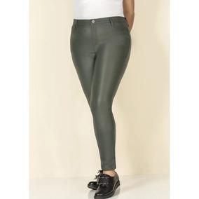 Pantalon Skinny Verde Look Urban High Rise Mujer Ok 1391794