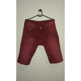 Bermuda Vermelha Masculina Sawary Jeans Tamanho 40.