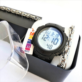 Relógio Skmei 1068 Masculino +brinde =pulseira Aço Inox E Cx