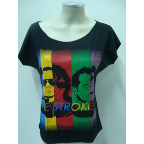 15a37565c3 Camiseta The Strokes Feminina - Camisetas Manga Curta no Mercado ...