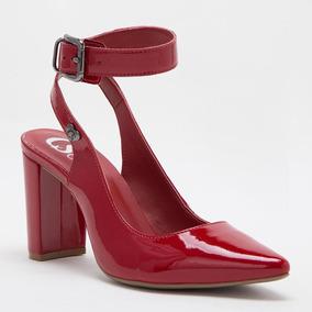 3925e4590 Scarpin Verniz Vermelho Fashion - C4307015398 por Carmen Steffens