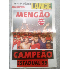 Poster Flamengo Campeão Estadual 1999