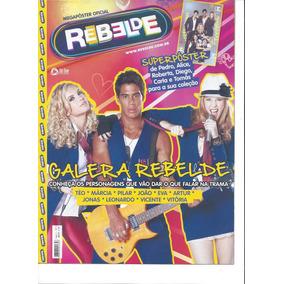 Lote Com 5 Revistas Rebelde- 4 Megapôsters E 1 Pôster