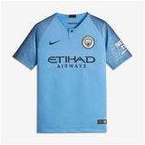 924ef526d5 Camisa Manchester City I 2018 2019 Infantil
