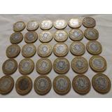 1 Moneda Núcleo De Plata N$10, Años Disp. 1992-3, Con Envío