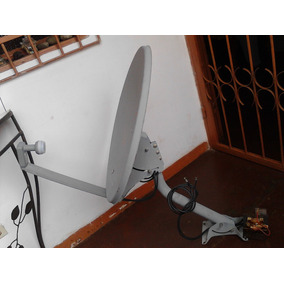 Antena Direct Tv Con Lnb Para 2 Decodificadores + Cable 8 Mt