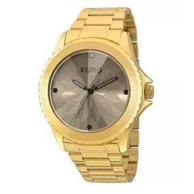 Relógio Dourado Euro Eu2035yce Feminino