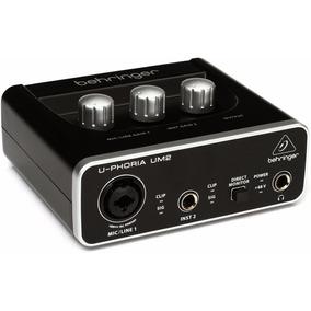 Um2 Interface De Audio Usb Behringer U-phoria Um-2 Novo