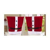 Hever 4 Piezas Set Sombrero De Papá Noel Fundas Para Sillas