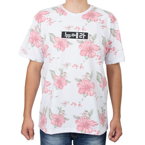 83967a4c3749b Camiseta New Era Floral Kore Branca