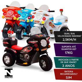 Mini Moto Triciclo Elétrica Infantil 6v Com Selo Immetro