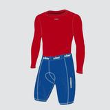 Conjunto Para Ciclista - Camisa Térmica E Bermuda Acolchoada