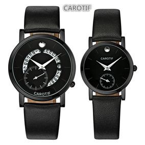 Relógios Masculino E Feminino Carotif 2 Relógios