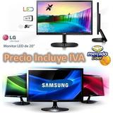 Monitor Lg Hdmi/ Samsung Led 20 Ultraslim Oferta Nuevos