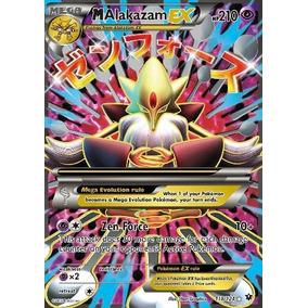 Pack Pokemon Cards 26 Uni. Com Mega Alakazam Ex E Umbreon Ex