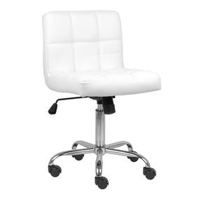 Cadeira Noruega Branca Reclinável Em Pu Promoção