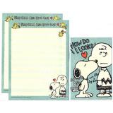 Lote 10 Conjuntos Papel Papéis De Carta Importados Snoopy 5