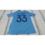 Camisa De Futebol Do Manchester City Numero 33 Gabriel Jesus ... 9729d597e0e7b