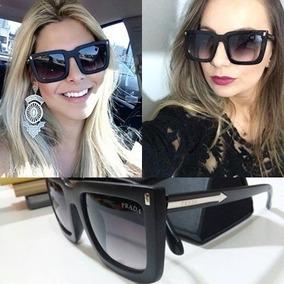 Óculos Feminino Prd Mascara Preto Quadrado Uv400 + Case 4401d72b26