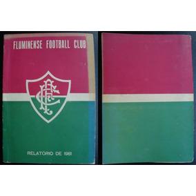 Raro Livro Futebol Oficial Fluminense Relatorio 1981