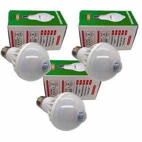 Lampada Led 7w Bivolt Com Sensor De Presenca Kit C 3unid