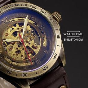 Reloj Skeleton Automatico Mecanico Steampunk Ironman Vip