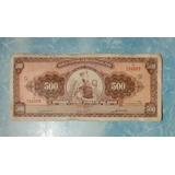 Billete Antiguo De 500 Soles Año 1963