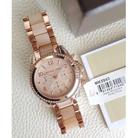 Relógio Michael Kors Blair Rose Dial Rose Gold Tone Ladies W ... ade53cd496
