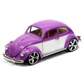 Clássico Nacional Volkswagen Fusca Coleção 1/18 1967 Tunado