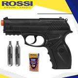 Pistola Pressão Co2 Rossi Win Gun C11 4.5mm Esfera Semimetal