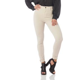 Calça Feminina Color Skinny Cintura Alta Denim Zerodz2528-10