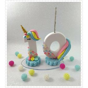 Vela Unicornio Biscuit, Festa Unicornio, 10 Anos