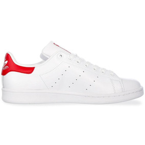 4e018b96ae8 Adidas Stan Smith Blanco Y Rojo - Tenis en Mercado Libre México