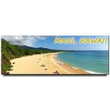 Imán Panorámico De Maui Para Nevera Hawaii Viaje Souvenir Ma
