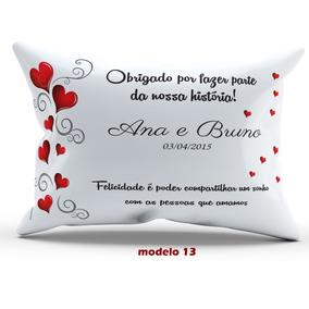 20 Almofada Personalizada Casamento Madrinha Padrinho 20x30