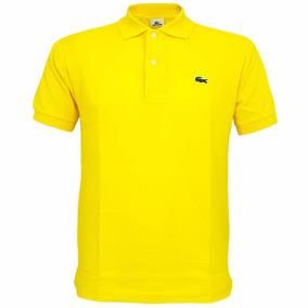 Camisa Masculina Polo Lacoste Amarela - Calçados 07dba30bb8a4f