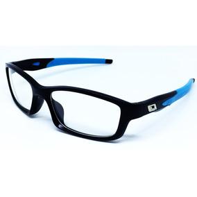 Armação Masculina Esportiva Para Óculos De Grau - Azul Claro f8ecd12e50